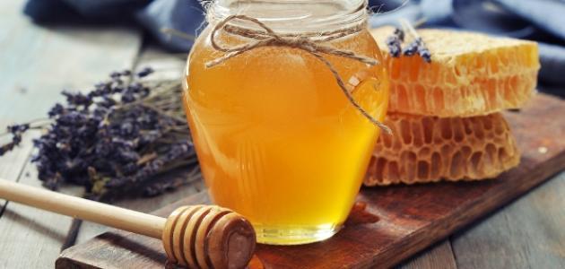 العسل للحبوب