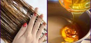 العسل للشعر الخفيف