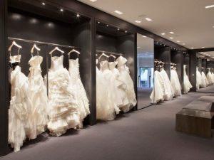 ديكور محل فساتين زفاف